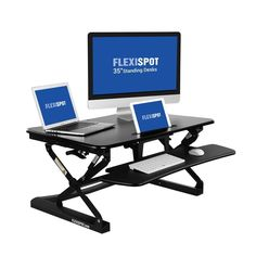 """FlexiSpot Standing Desk - 35"""" Classic Series Stand Up Desk Riser with Quick Release Keyboard Tray"""