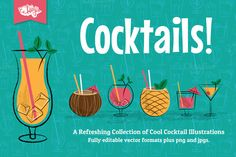 Cocktail Party Vector Illustrations by wingsart on Creative Market