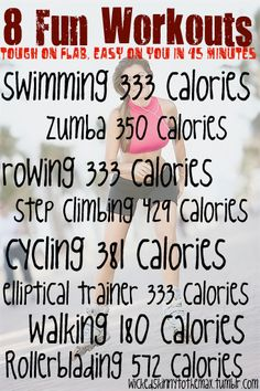 Make Your Cardio Fun! my info on cal burned for zumba is between 500 - 800…