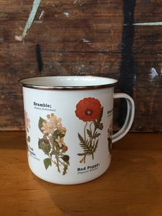 Flower Enamel Mug - Diamonds & Rust