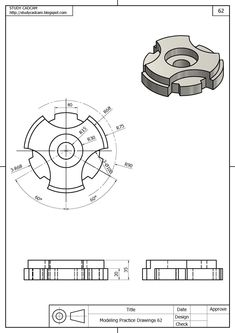 Mechanical Engineering Design, Mechanical Design, Isometric Drawing Exercises, Cool Designs To Draw, Solidworks Tutorial, Drafting Drawing, Interesting Drawings, Drawing School, Sketch Design