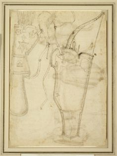 PISANELLO, Custodia per arco e faretra, disegno 1438, Margaret Day Blake Collection, Art Institute (Chicago), inv. 1961.331V