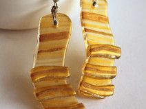 Golden Honey Dangles Glass Earrings