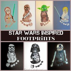 Footprint Art - Star Wars