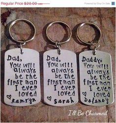 FATHERS DAY SALE Dad you will always be the first by ILLBECHARMED