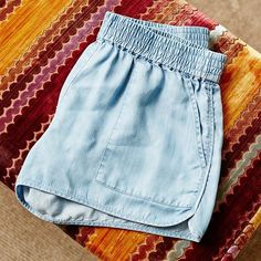 Not much is softer than our chambray shorts. The Joie Koty.