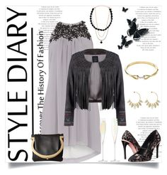 """Style Diary: Discover The History Of Fashion"" by helenaymangual ❤ liked on Polyvore featuring Dorothy Perkins, Lea Lov, Oscar de la Renta, Salvatore Ferragamo, Nadri, Aurélie Bidermann and LSA International"