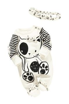 Buy Cat Sleepsuits With Headband (0-2yrs) from the Next UK online shop