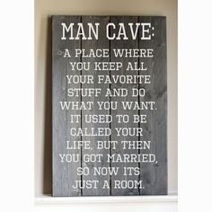 Rustic  Man Cave Wood Sign by HammerandLaceinc on Etsy