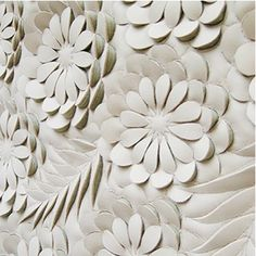 Textured Carved leather wall  By Helen Amy Murray.  She came in to our office the other day...I'm in love with her !!