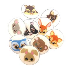 9 Woodland Animal Shank Sewing Buttons. 3/4 or by buttonsbyrobin, $20.99