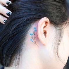 Tattoo Belly, Back Ear Tattoo, Behind Ear Tattoos, Back Of Shoulder Tattoo, Small Shoulder Tattoos, Behind Ear Tattoo Small, Biker Tattoos, Mom Tattoos, Cute Tattoos