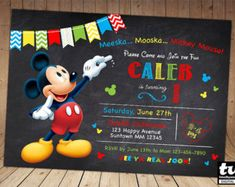 50% OFF SALE Mickey Mouse Chalkboard by theincrediblecards on Etsy