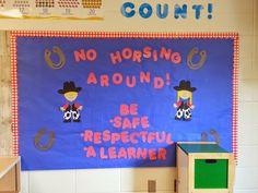 PBIS Theme Bulletin Boards, Western Theme, Back to school Bulletin Boards, Mrs. Cowboy Bulletin Boards, Farm Bulletin Board, Back To School Bulletin Boards, Cowboy Theme, Western Theme, Vbs Themes, Classroom Themes, School Decorations, School Themes