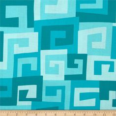 Michael Miller Maze Turquiose from @fabricdotcom  Designed by Michael Miller, this cotton print fabric is perfect for quilting, craft projects, apparel and home décor accents. Colors include aqua, teal and shades of turquoise.