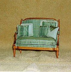 Louis XVI miniature loveseat by Nancy Summers