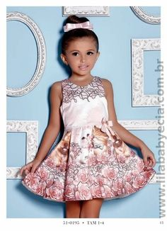 Vestido Infantil Miss Cake Doce Princesa 510195