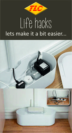 Hide cable clutter in your home or office with these fantastic cable tidy boxes. They are ideal to hide TV cables, Computer wires, and Gaming cables, and hide Socket Extension Blocks too… wherever there is cable clutter! Hide Tv Wires, Hide Tv Cables, Hiding Cables, Hide Electrical Cords, Hide Cable Box, Cord Organization, Home Office Organization, Organizing Tips, Hide Router