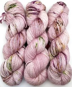 A personal favorite from my Etsy shop https://www.etsy.com/ca/listing/549330504/hand-dyed-yarn-floramour-pink-purple