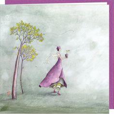 "Gaelle Boissonnard square greeting card ""Candide"""