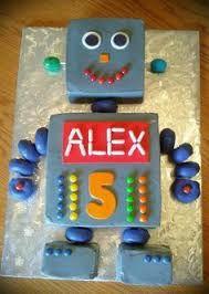 Image result for robot birthday cake
