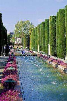Fountains in gardens, Cordoba, Andalucia (Andalusia), Spain, Europe