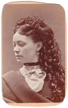 A Tiny Bit of Historical Hair Care for the Modern Woman Young Teenage Girl with Sausage Curls, 1870s
