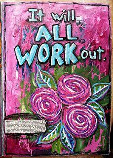 Art journal page | by artbyjoleneeborn