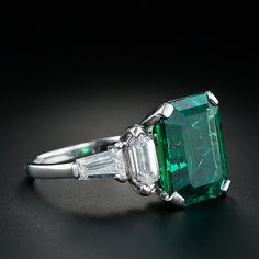 Rate this from 1 to Vintage Jewelry Emerald Engagement Rings for May emerald-diamond-ring - Once Wed Vintage Emerald Ring Swarovski Crystal Emerald Green Emerald Ring Vintage, Emerald Jewelry, Vintage Rings, Emerald Rings, Emerald Cut, Ruby Rings, Emerald Diamond, Vintage Emerald Engagement Rings, Diamond Rings