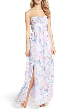 Main Image - Plum Pretty Sugar Floral Strapless Gown
