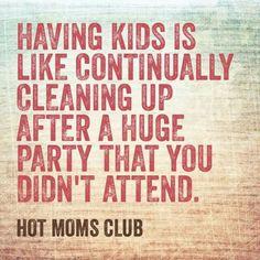 Having kids...