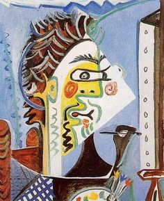 Pablo Picasso, 1963 Le peintre 1 on ArtStack Desenhos Pablo Picasso, Pablo Picasso Drawings, Picasso Art, Picasso Paintings, Cubist Portraits, Picasso Portraits, Georges Braque, Paul Gauguin, Henri Matisse