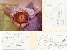 publicidade: As bonecas de pano fizeram e ainda fazem muito sucesso entre as meninas de todas as idades e não é atoa lindas, singelas e delicadas elas servem tanto para brincar quanto para enfeitar quartos dando um thãm a mais no ambiente ou também, como artigos de colecionador! Pra vocês terem ideia do amor por … Doll Patterns, Sewing Patterns, Raggedy Ann And Andy, Sewing Stitches, Dyi Crafts, Gel Pens, Fabric Dolls, Couture, Baby Dolls