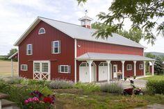 3806 - Morton Buildings red metal barn house