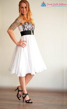 Größen enthalten: 11y/12y + XXXS-XL Material: gewebt  Dieses Muster Add-on zeigt Ihnen, wie eine Kleid, wie Sie nie zuvor gesehen haben mit