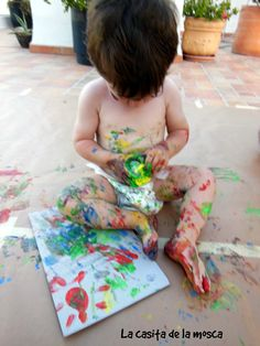 Pintando letras en cartón