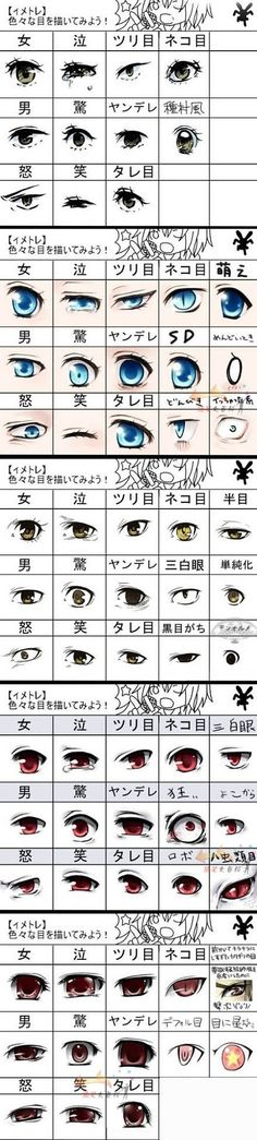 Different style eyes