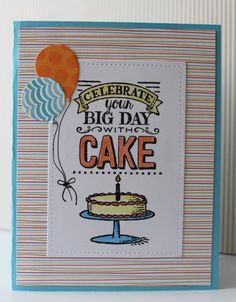 CAS373 - Cake & Ice Cream by hultenlk - Cards and Paper Crafts at Splitcoaststampers