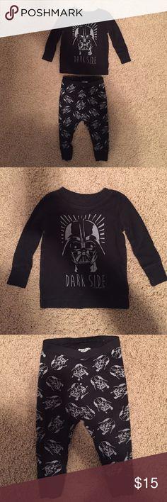 Darth Vader pajamas Worn twice. In excellent condition!  Old Navy Darth Vader pajamas Old Navy Pajamas Pajama Sets