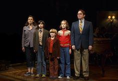 THE BECHDEL FAMILY: (left to right) Judy Kuhn, Oscar Williams, Zell Steele Marrow, Sydney Lucas & Michael Cerveris. Photo: Joan Marcus