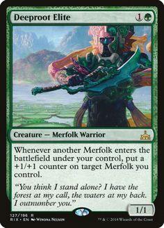 x4 Deeproot Warrior MTG Ixalan C M//NM English