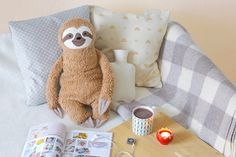 Hot water bottle cover, Sloth, Rustic, Wellness, Whimsy wellness, woodland animals, Faultier, Faulpelz, home, decoration, softie