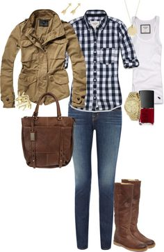 Fall casual outfit -- Look like the Winchesters :)