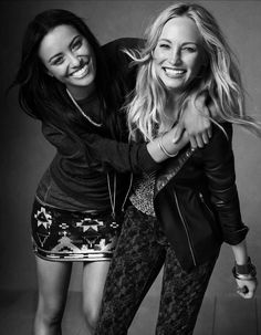 Kat Graham and Candice Accola.... Bonnie and Caroline