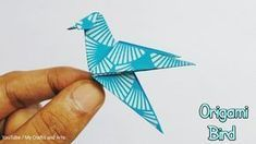 How to make an origami bird easily at home in Lockdown and enjoy your life. This is an origami bir. Origami Bird Easy, Origami Rose, Useful Origami, Origami Butterfly, Origami Flowers, Origami Hearts, Origami Birds, Origami Ideas, Simple Oragami