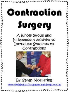 This is an activity to introduce contractions to your students. There is an idea/materials for a whole group lesson included, as well as an indepen...