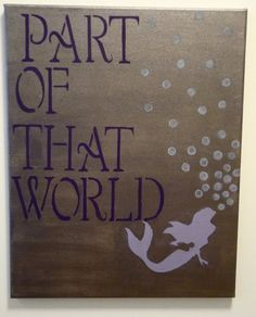 The Little Mermaid Print by LovePurpleLiveGold on Etsy. , via Etsy... The Little Mermaid Bathroom