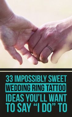 33 Impossibly Sweet Wedding Ring Tattoo Ideas You'll Want To Say 'I Do' To