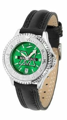 Marshall Thundering Herd NCAA Womens Leather Wrist Watch by SunTime. $79.95. Showcase the hottest design in watches today! A functional rotating bezel is color-coordinated to compliment your favorite team logo. A durable long-lasting combination nylon/leather strap together with a date calendar round out this best-selling timepiece.. Save 21% Off!