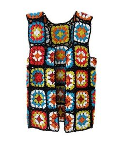 crochet tank top granny square stitch